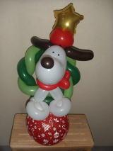 バルーンアート クリスマスの犬
