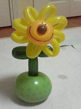 バルーンアートひまわりの花