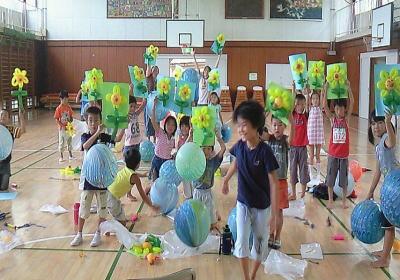 バルーンアートひまわりの作り方教室