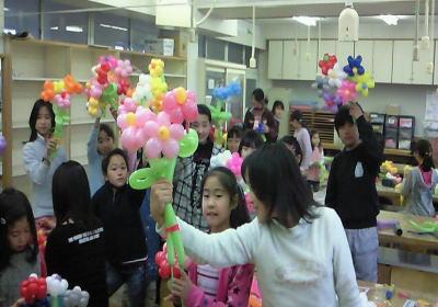 バルーンアートお花の作り方教室